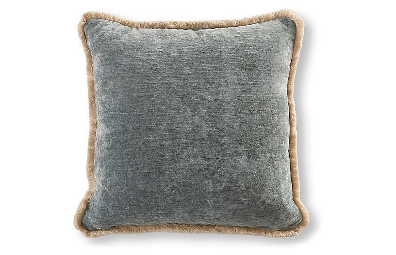 Wisteria 22x22 Pillow, Blue Stone