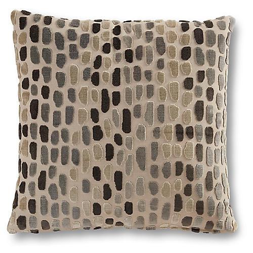 Finley 19x19 Pillow, Gray Metallic Spots