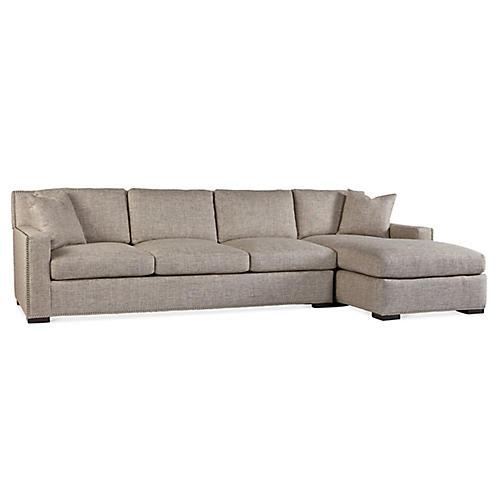 Walter Right-Facing Sofa, Pebble