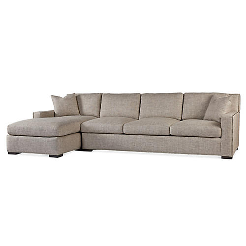 Walter Left-Facing Sofa, Pebble