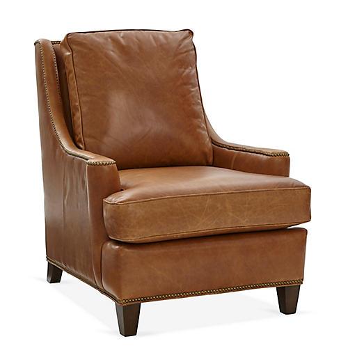 Buhl Club Chair, Camel Leather