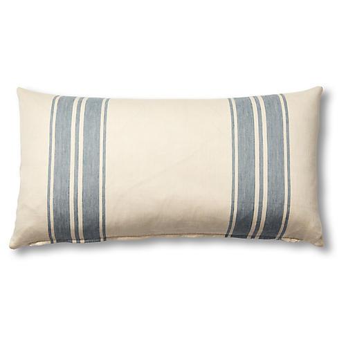 Brentwood 12x23 Lumbar Pillow, China Blue