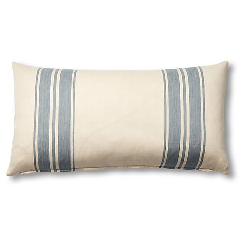 Brentwood 12x23 Lumbar Pillow, China Blue