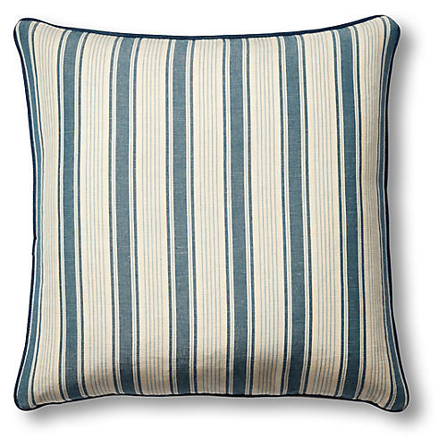 Ojai 19x19 Pillow, Prussian Blue