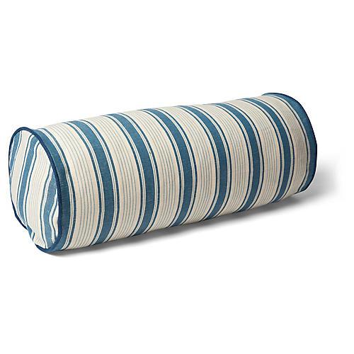 Ojai 7x20 Bolster Pillow, Prussian Blue