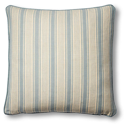 Ojai 19x19 Pillow, China Blue