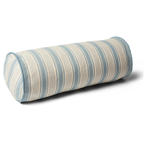 Ojai 7x20 Bolster Pillow, China Blue