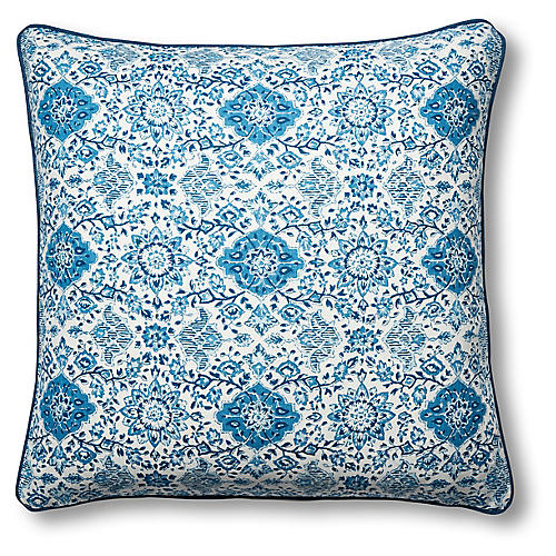 Monte 22x22 Pillow, Blue Linen