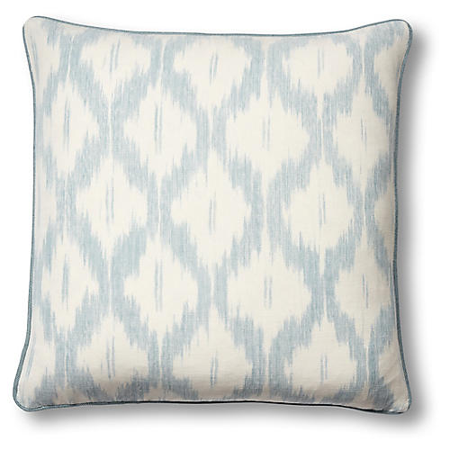 Santa Monica 19x19 Pillow, China Blue