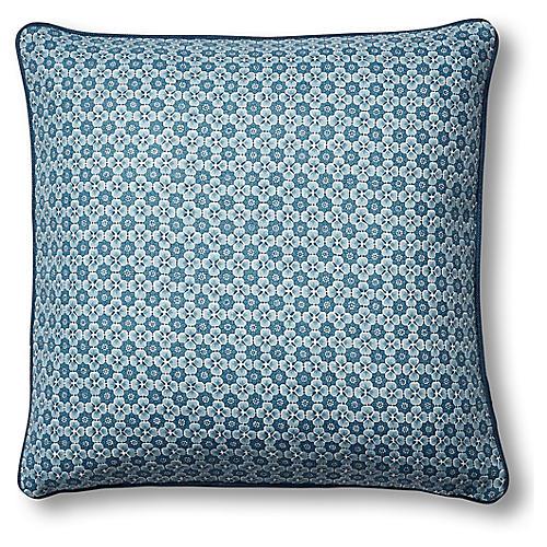 Palisades 19x19 Pillow, Indigo Blue Linen