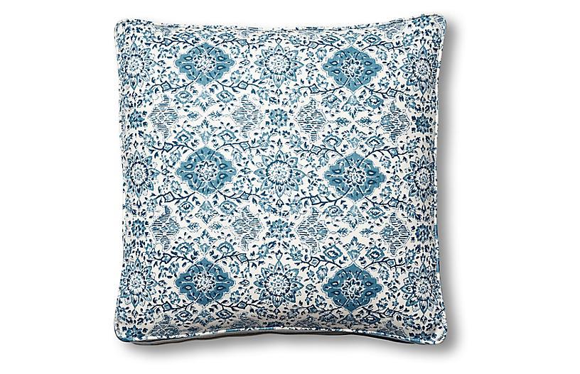 Montecito 19x19 Box Pillow, Indigo