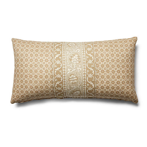 Ojai 12x23 Lumbar Pillow, Natural Stripe