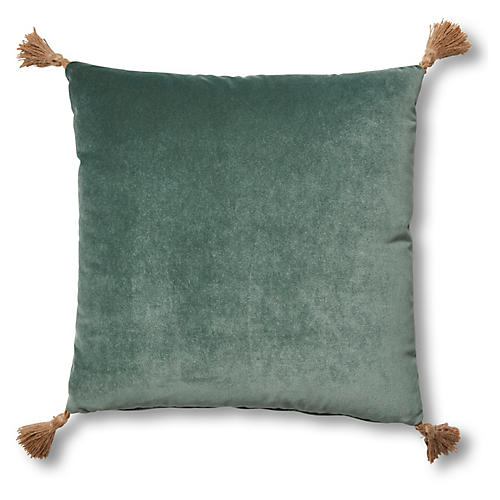 Lou 19x19 Pillow, Jade Velvet