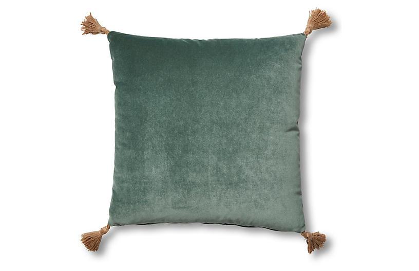 Lou 19x19 Pillow, Jade Velvet