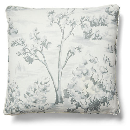 Lee 19x19 Pillow, Powder Blue Linen