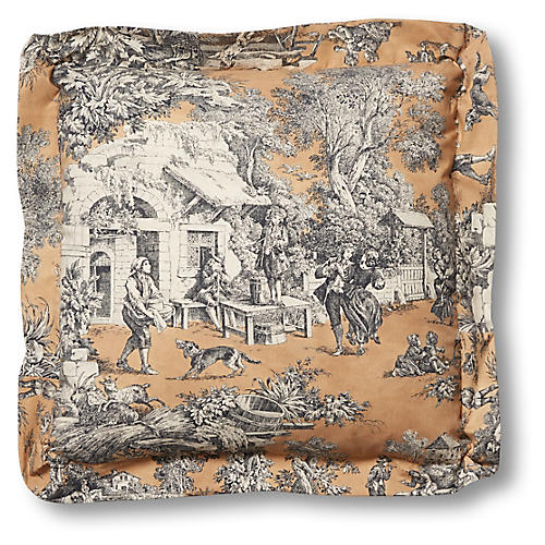 Annalise 19x19 Pillow, Marigold Toile