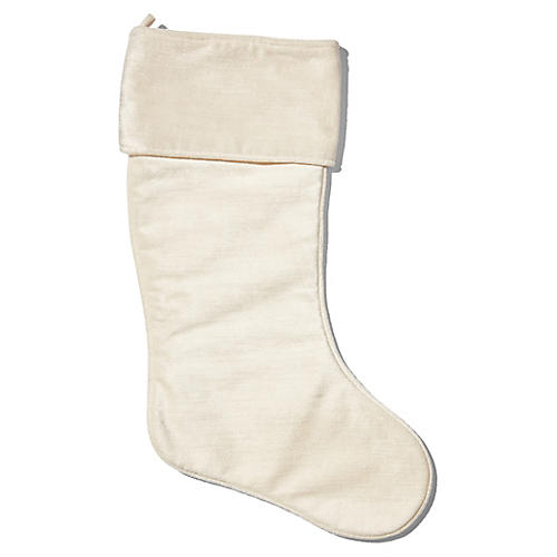 "21"" Emma Stocking, Ivory"