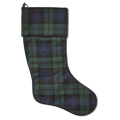 Charles Tartan Stocking, Dark Green/Multi