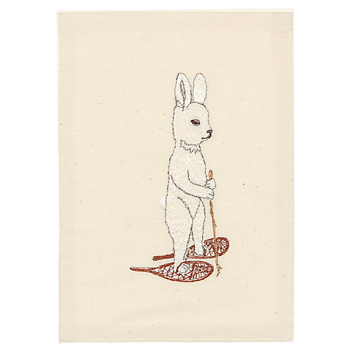 Snowshoe Hare Card, Natural/Multi
