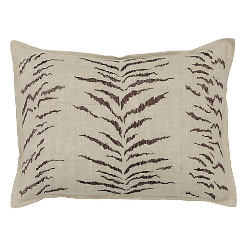 Tiger Stripe 12x16 Pillow, Natural Linen