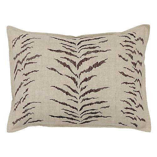 Tiger Stripe 12x16 Pillow, Natural Linen