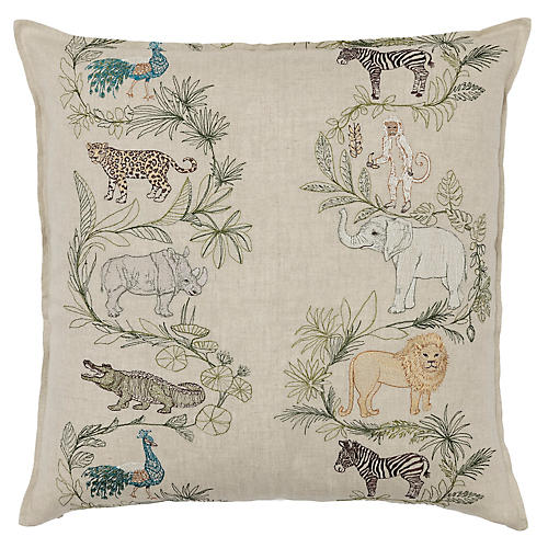 Safari 20x20 Pillow, Natural Linen