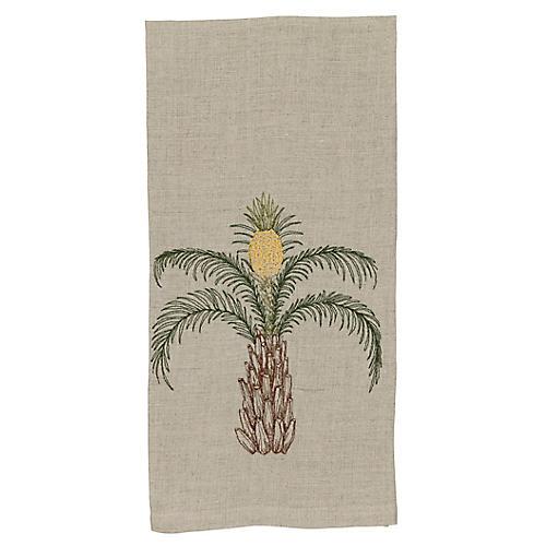 Pineapple Palm Tea Towel, Natural/Multi