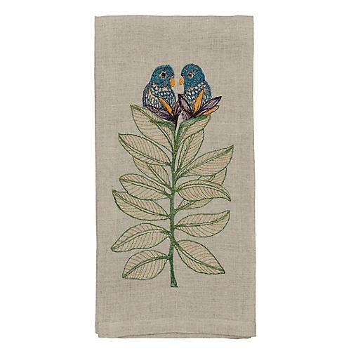 Birds-of-Paradise Tea Towel, Natural/Multi