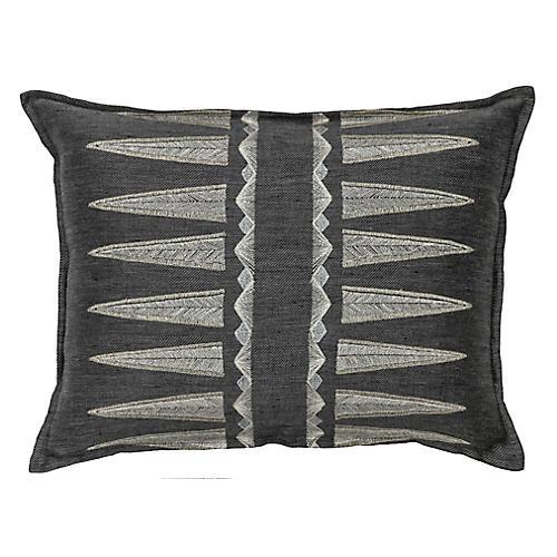 Quill 12x16 Pillow, Slate Linen