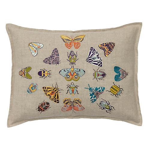 Fancy Flight 12x16 Lumbar Pillow, Natural Linen