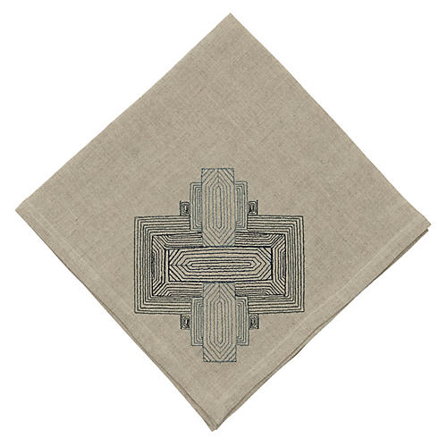 Pillar Dinner Napkin, Natural/Gray