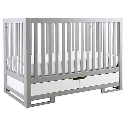 Owen Crib, Moon Gray/White