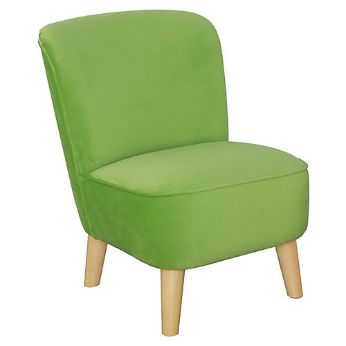 June Kids' Chair, Green Apple