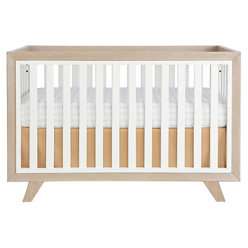 Whitney Crib, Almond/White