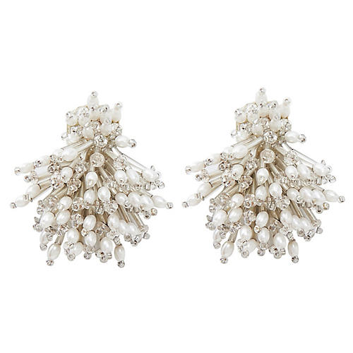 Burst Earrings, Crystal