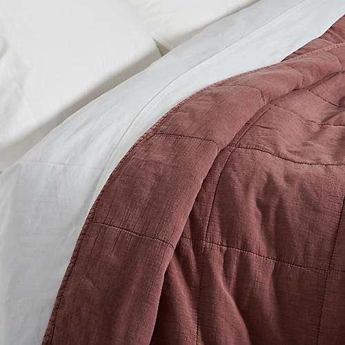 Antwerp Coverlet, Berry