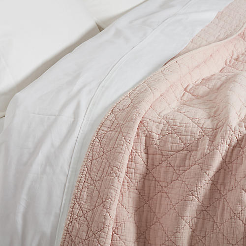 Huntington Coverlet, Blush