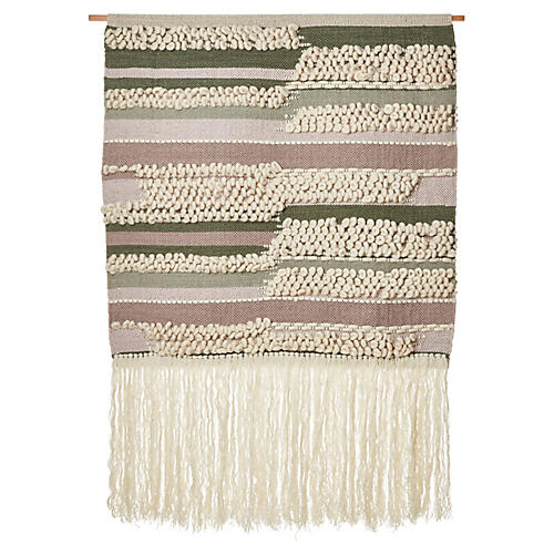 Safi Wall Hanging, Berry/Moss