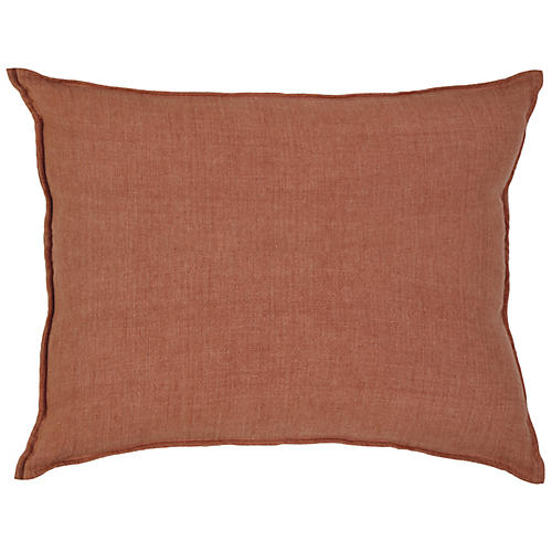 Montauk 28x36 Pillow, Terracotta Linen