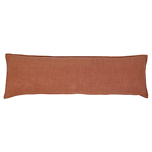 Montauk 18x60 Body Pillow, Terracotta Linen