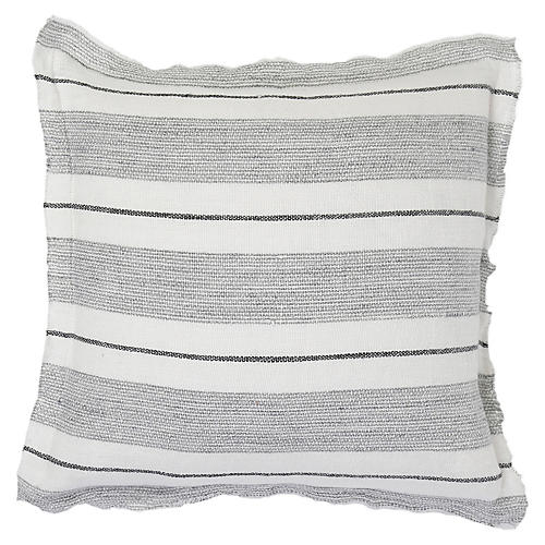 Laguna 20x20 Pillow, Gray/Charcoal Linen