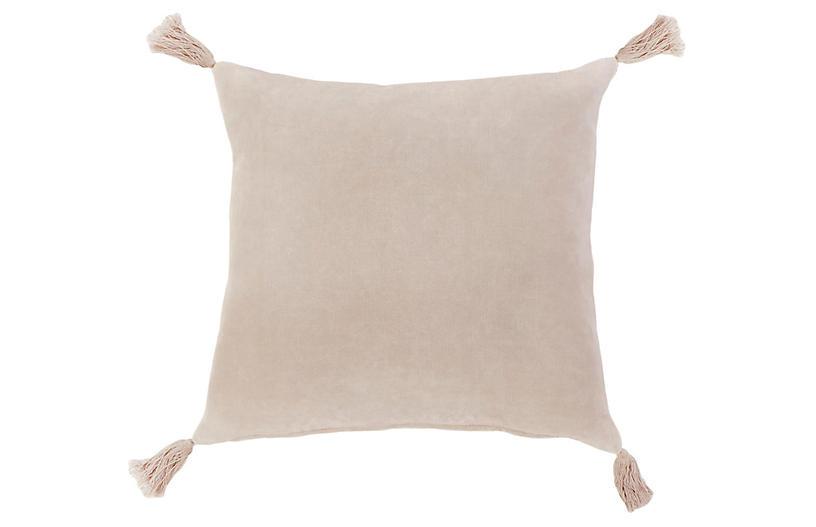 Bianca 20x20 Pillow, Blush Velvet