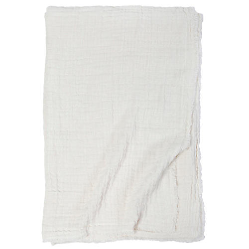 Hermosa Cotton Throw, Cream