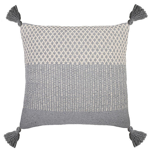 Alice 20x20 Pillow, Blue Gray