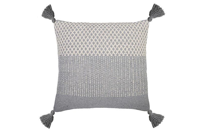 Alice 20x20 Pillow, Blue Gray