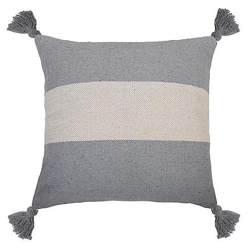Reese 26x26 Pillow, Blue Gray