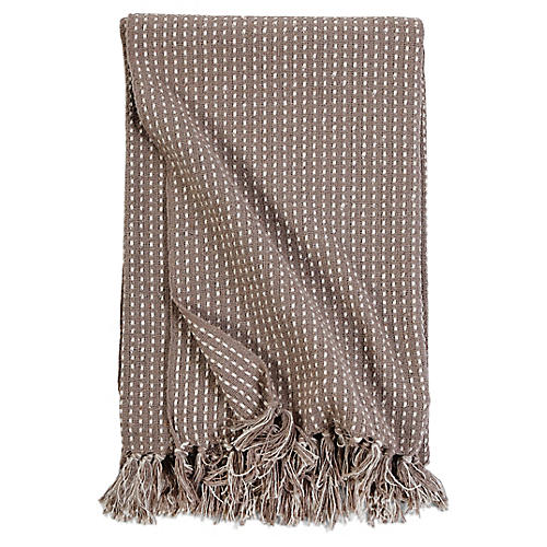 Jasper Throw, Taupe