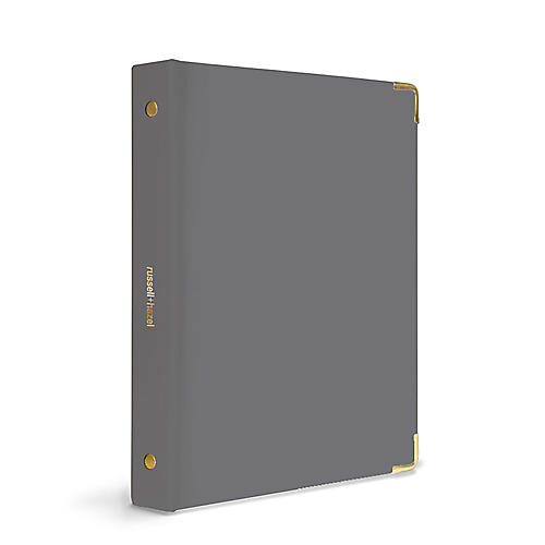 Mini Three-Ring Binder, Charcoal