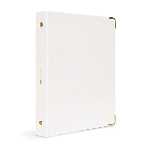 Mini Three-Ring Binder, White