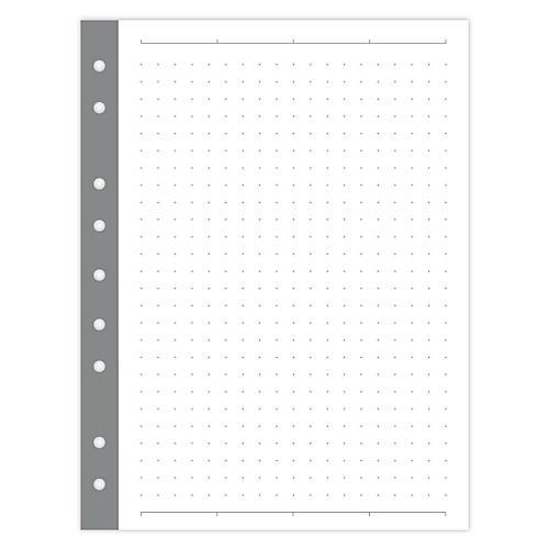 Mini Dot Paper, White/Gray